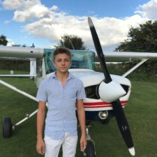 Scott and his favourite Cessna.